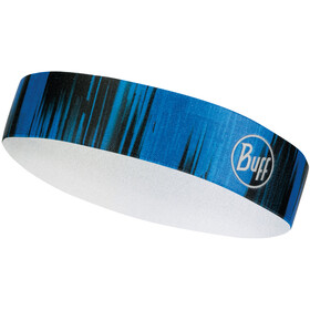 Buff Wide Bandeau, reflective-pulse cape blue